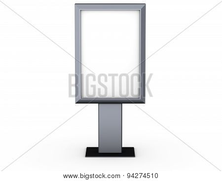 Simple Advertiste Stand Billboard With Empty Copy Space