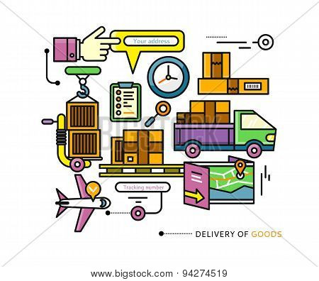 Delivery Service Aviation, Customs, Transport