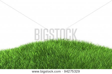 3D Green Grass Isolated On Hill Illustration