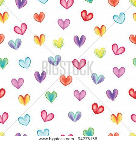Hearts seamless pattern.