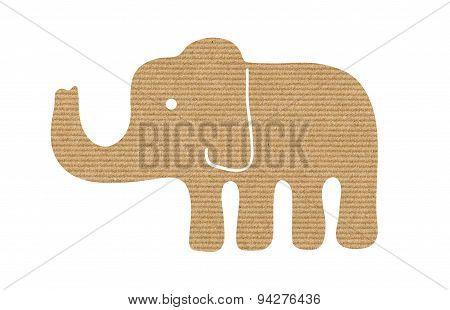 Kraft Paper Elephant Silhouette Design