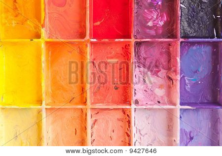 Shade colour on the palette