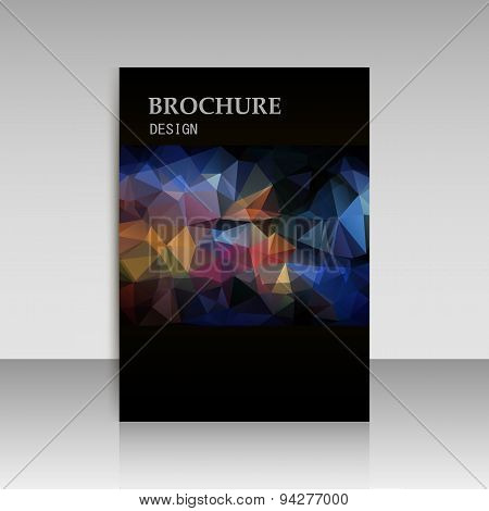Abstract Vector Modern Cover, Report Brochure, Flyer Design Template With Geometric Triangular Polyg