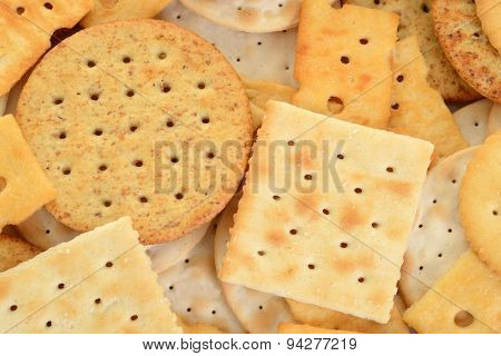 macro assorted crackers