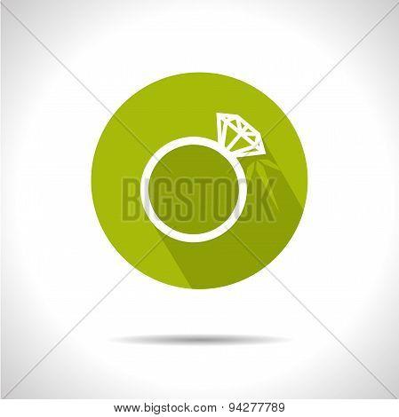 Wedding ring icon. Eps10