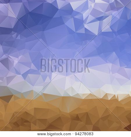 Desert and sky low poly background