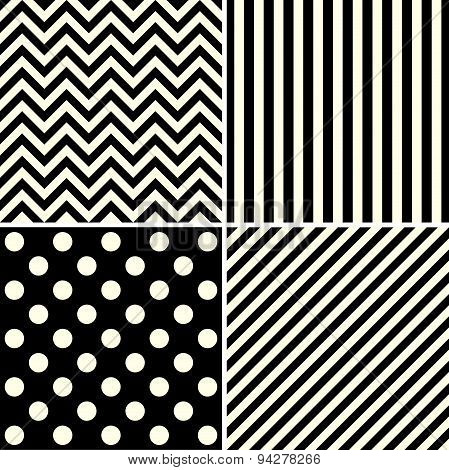 Set Of Abstract  Backgrounds. Black Design