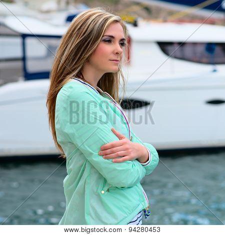 Young Adult Lady Enjoying Summer Travel
