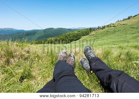Rest In Active Hiking In The Mountains