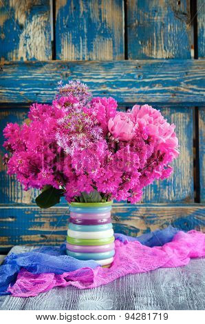Still Life with rhododendron flowers