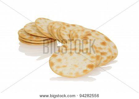 closeup water crackers