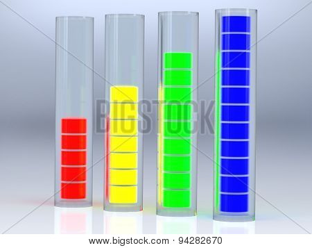 Signal Level In The Glass Tubes Division Communication Quality