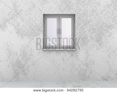 Abstract Texture Of Wall And Floor Gray Background White Window Closed