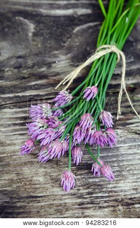 Bouquet blooming onion chives