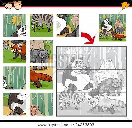 Wild Mammals Jigsaw Puzzle Game