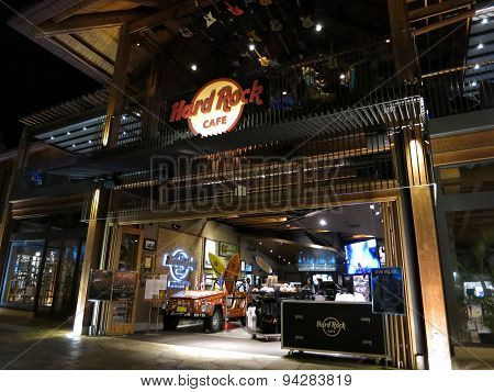 Hard Rock Cafe Entrance At Night
