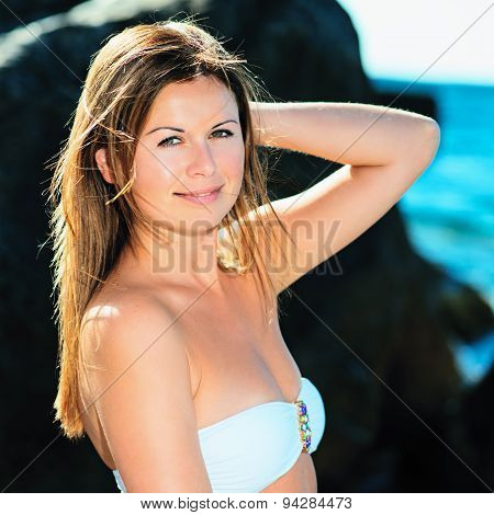 Beautiful Sunny Portrait Of A Young Woman
