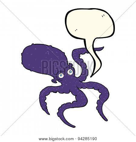 cartoon octopus with speech bubble