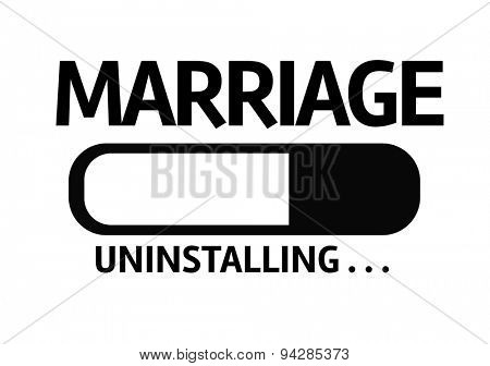 Progress Bar Uninstalling with the text: Marriage