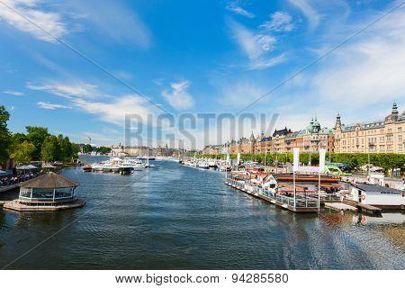 View over central Stockholm, Sweden,  Europe