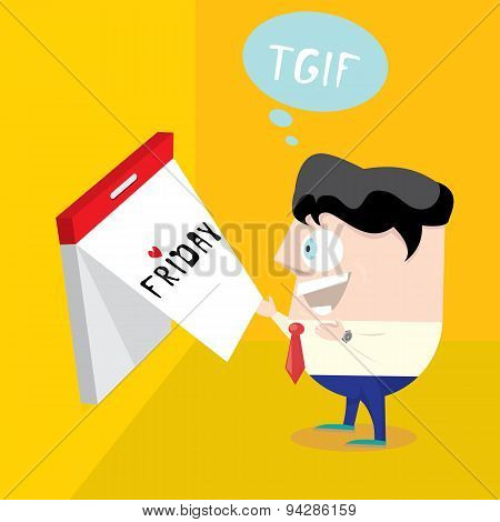 thanks god it's friday concept. i love friday
