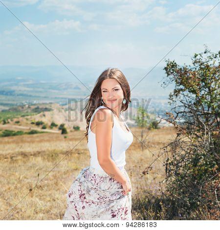 Young Beautiful Elegance Smiling Woman