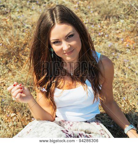 Young Beautiful Elegance Smiling Woman.