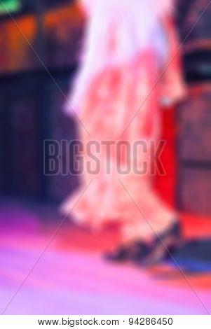 Flamenco dancers blur background