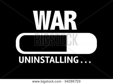 Progress Bar Uninstalling with the text: War