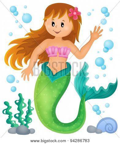 Mermaid theme image 1 - eps10 vector illustration.