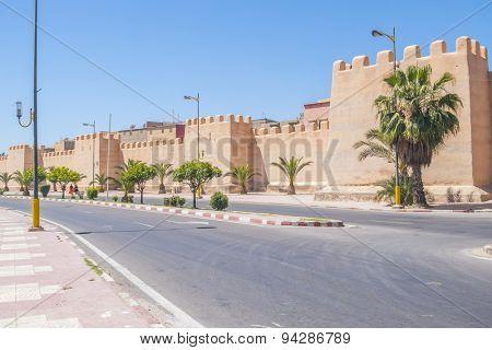 Defensive walls in Taurodant, Morocco