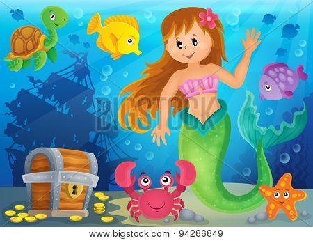 Mermaid theme image 3 - eps10 vector illustration.
