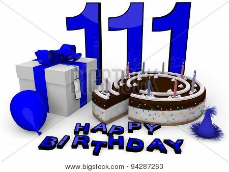 Happy Birthday In Blue