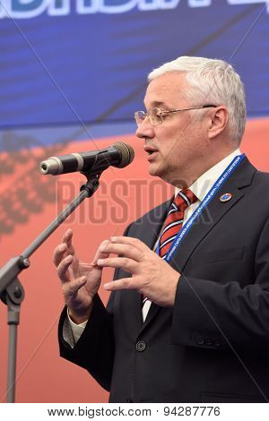 ST. PETERSBURG, RUSSIA - JUNE 20, 2015: Rector of National Research University