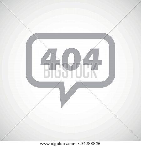 Error 404 grey message icon