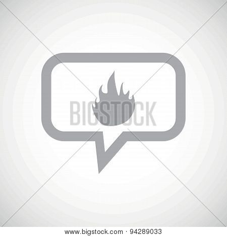 Fire grey message icon