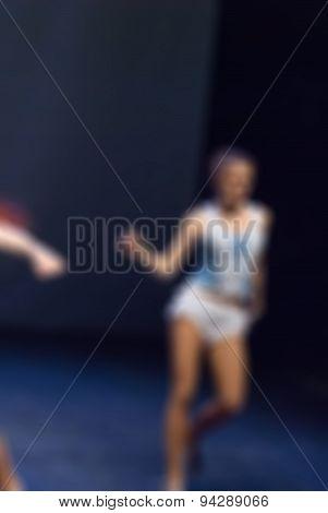 Contemporary dance performance bokeh blur background