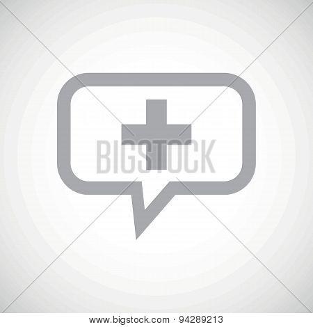 Plus grey message icon