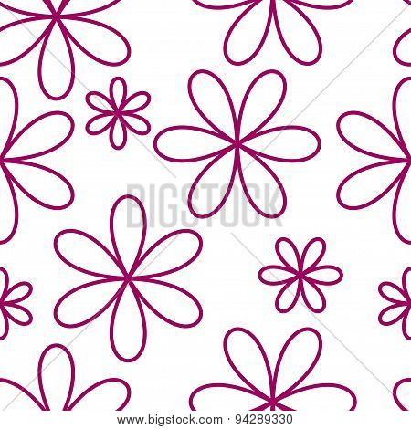 Flower seamless pattern pink color