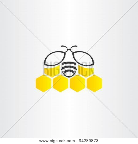 Honeycomb And Bee Symbol