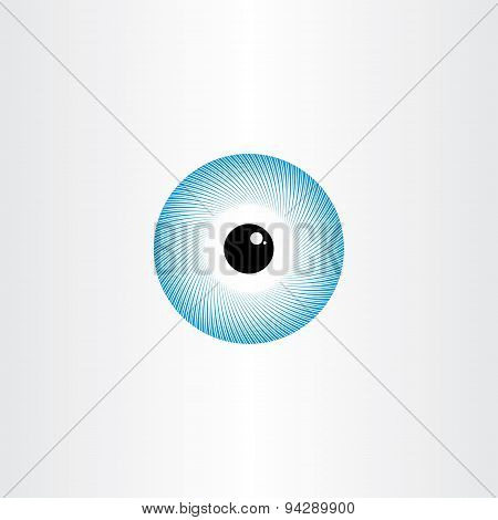 Human Eye Blue Pupil Symbol