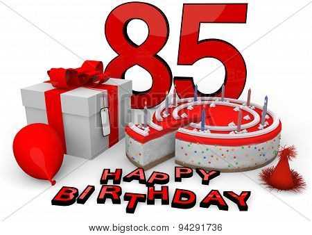 Happy Birthday In Red