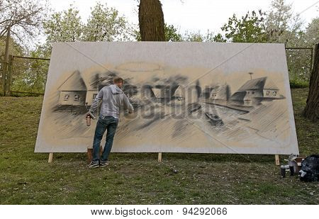 Street Painters Graffiti, Kiev, Ukraine