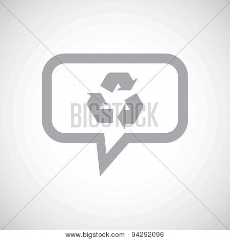 Recycle grey message icon