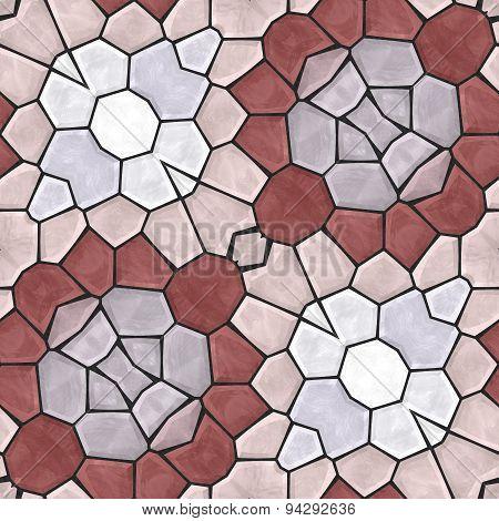 Kaleidoscopic Seamless Mosaic Background