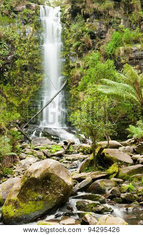 Erskine Falls are located near the Great Ocean road on the Southern Coast of state Victoria, Australia