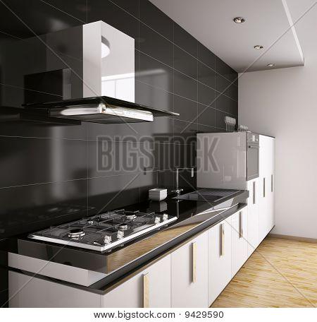 3D Interior cocina moderna