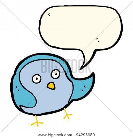 cartoon bird with speech bubble