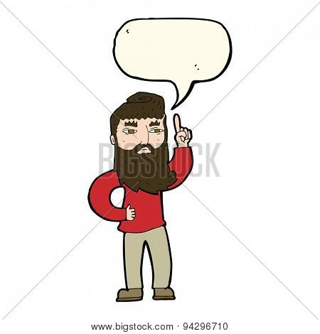 cartoon man with idea with speech bubble