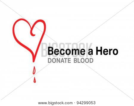 Digitally generated become a hero donate blood vector